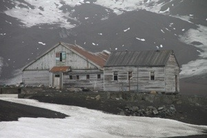 Whalers bay, deception island, Antarctica,