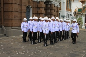 changing of the guard in Bangkok