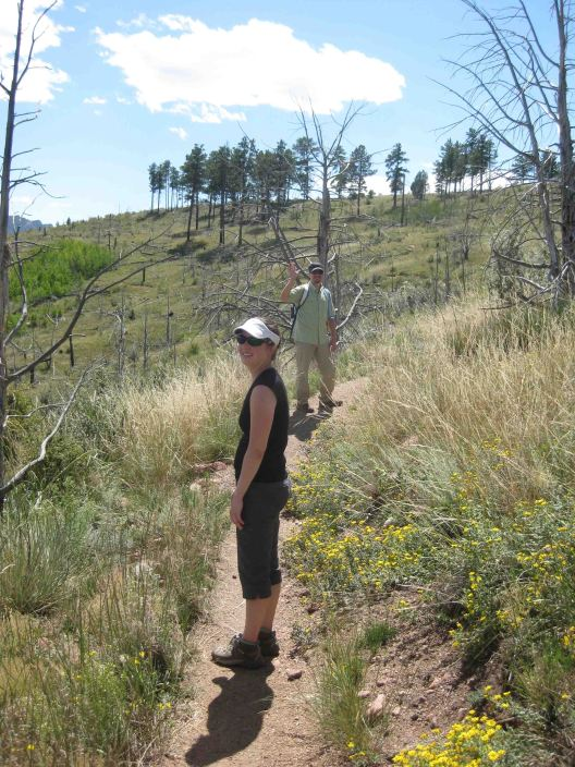 Kristin and Justin on the Colorado Trail