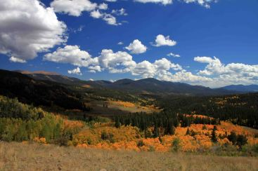 view of aspen from the colorado trail