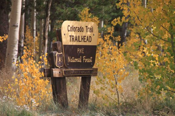 The colorado trail sign