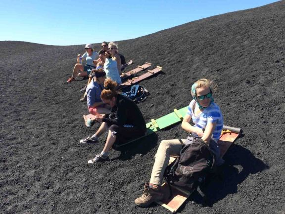 sandboarding cerro negro