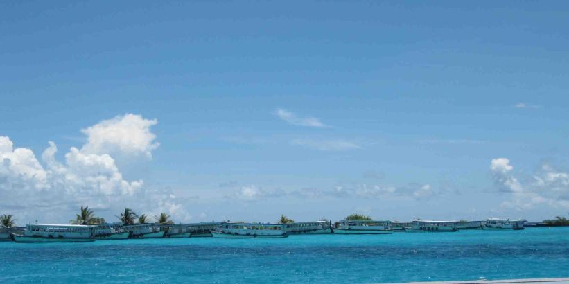 harbor in the maldives