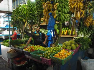 fruit stand at the market