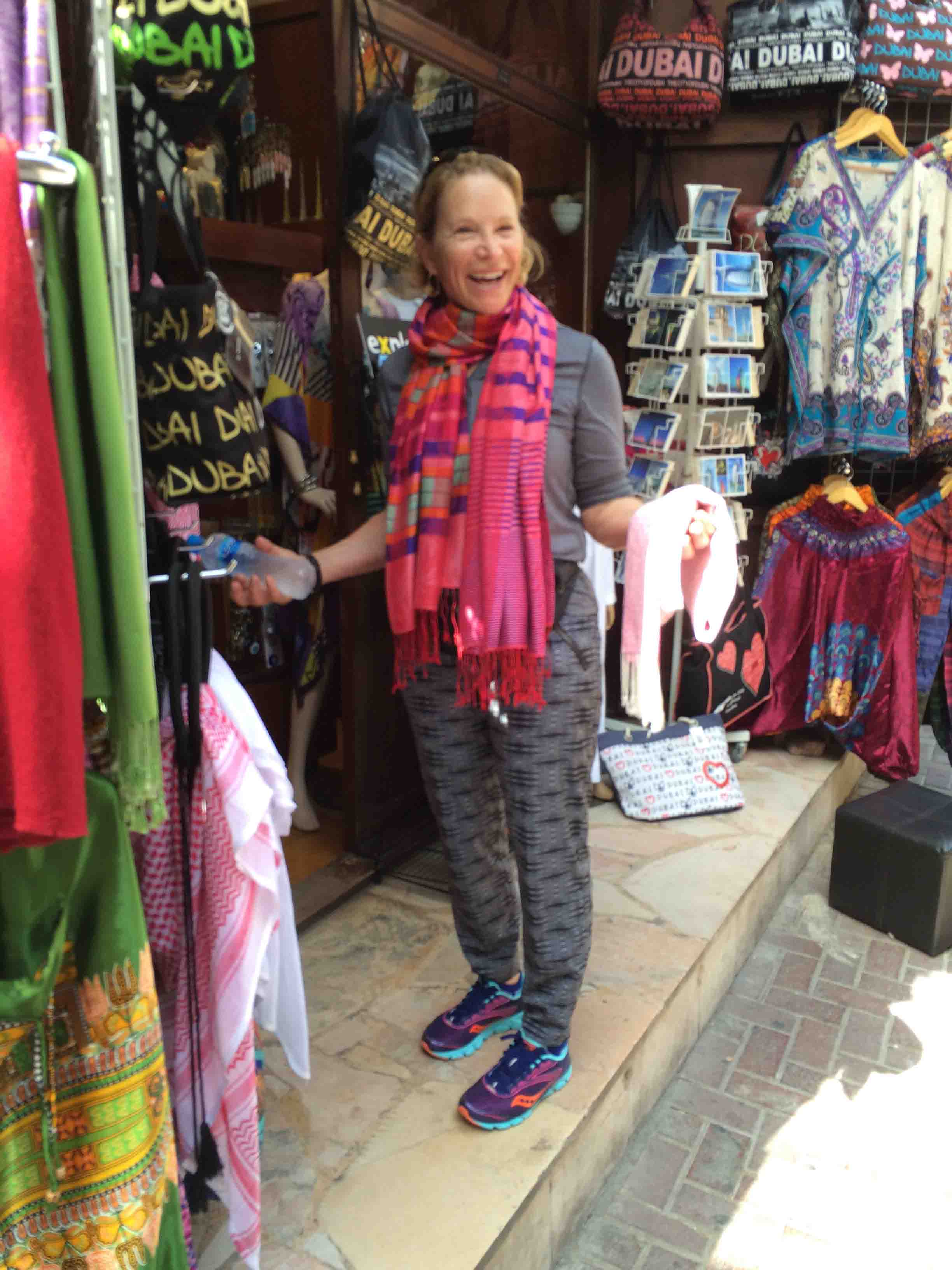 ruth buying scarves
