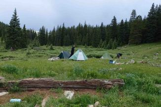 campsite on the Colorado Trail