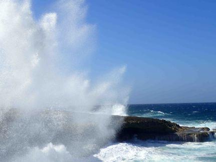 coast after crashing wave