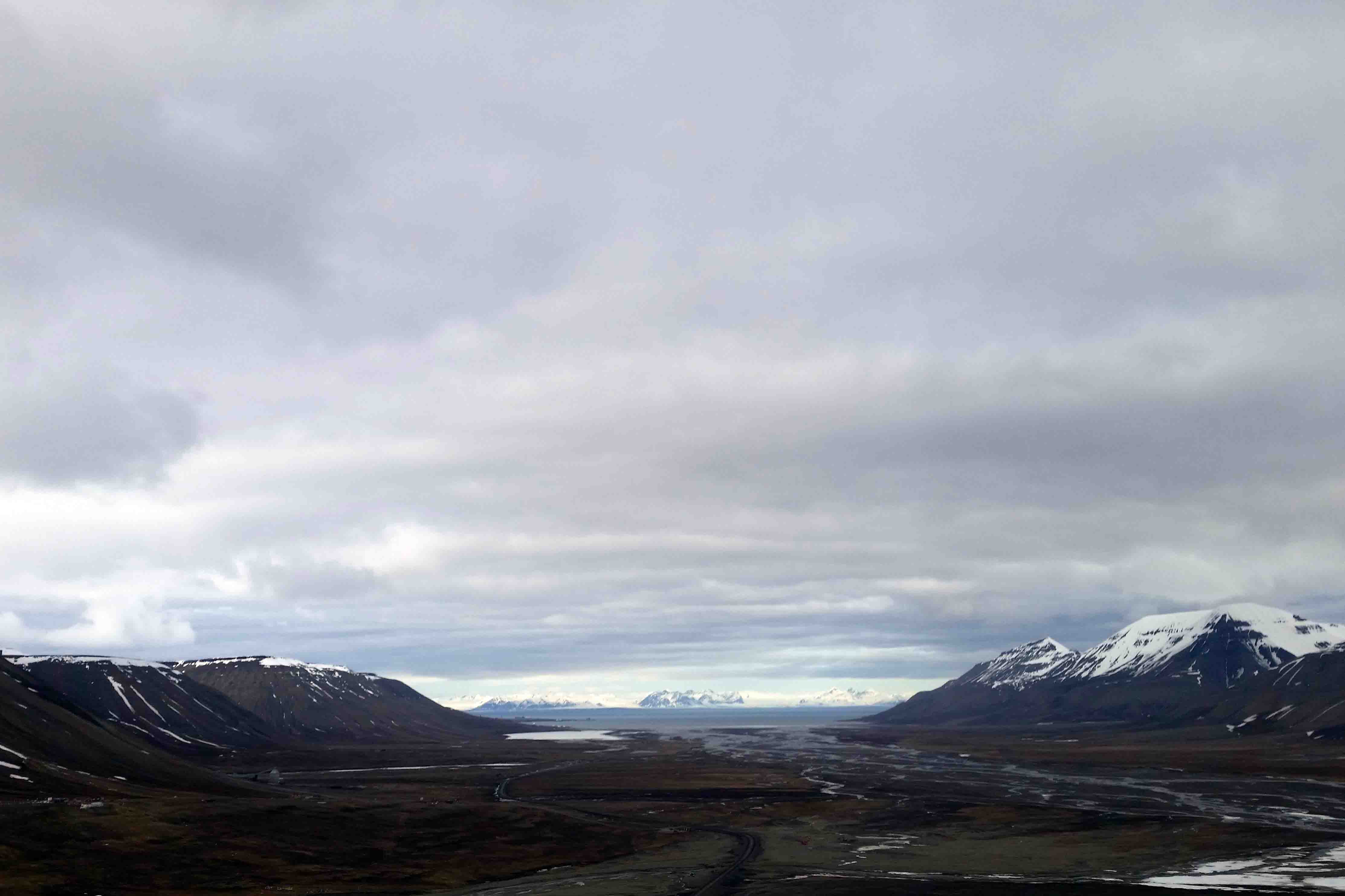View of valley near Longyearbyen, Spitsbergen