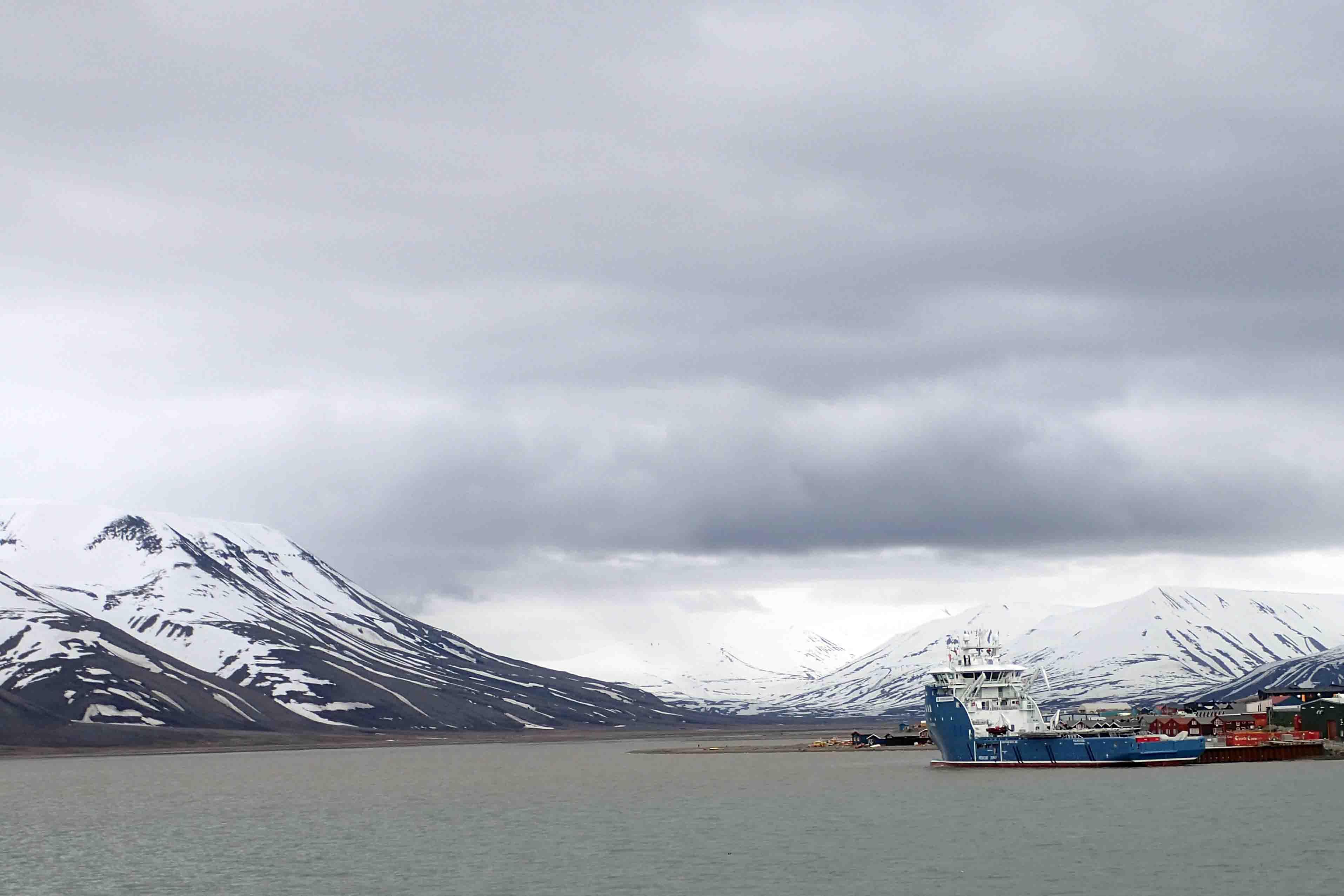 icebreaker in longyearbyen harbor