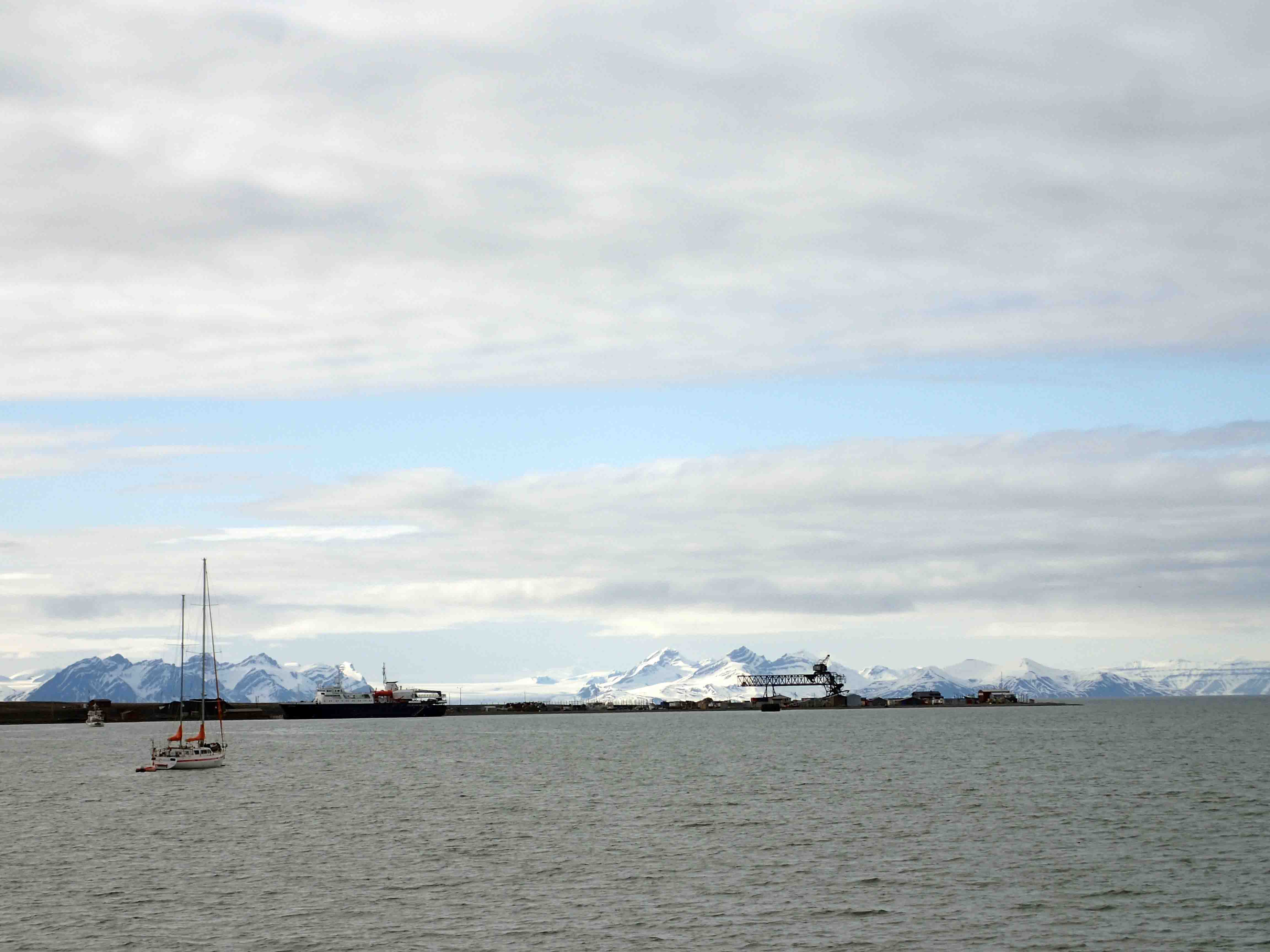 view of harbor in Longyearbyen, Spitsbergen