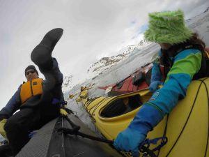 loading into kayak