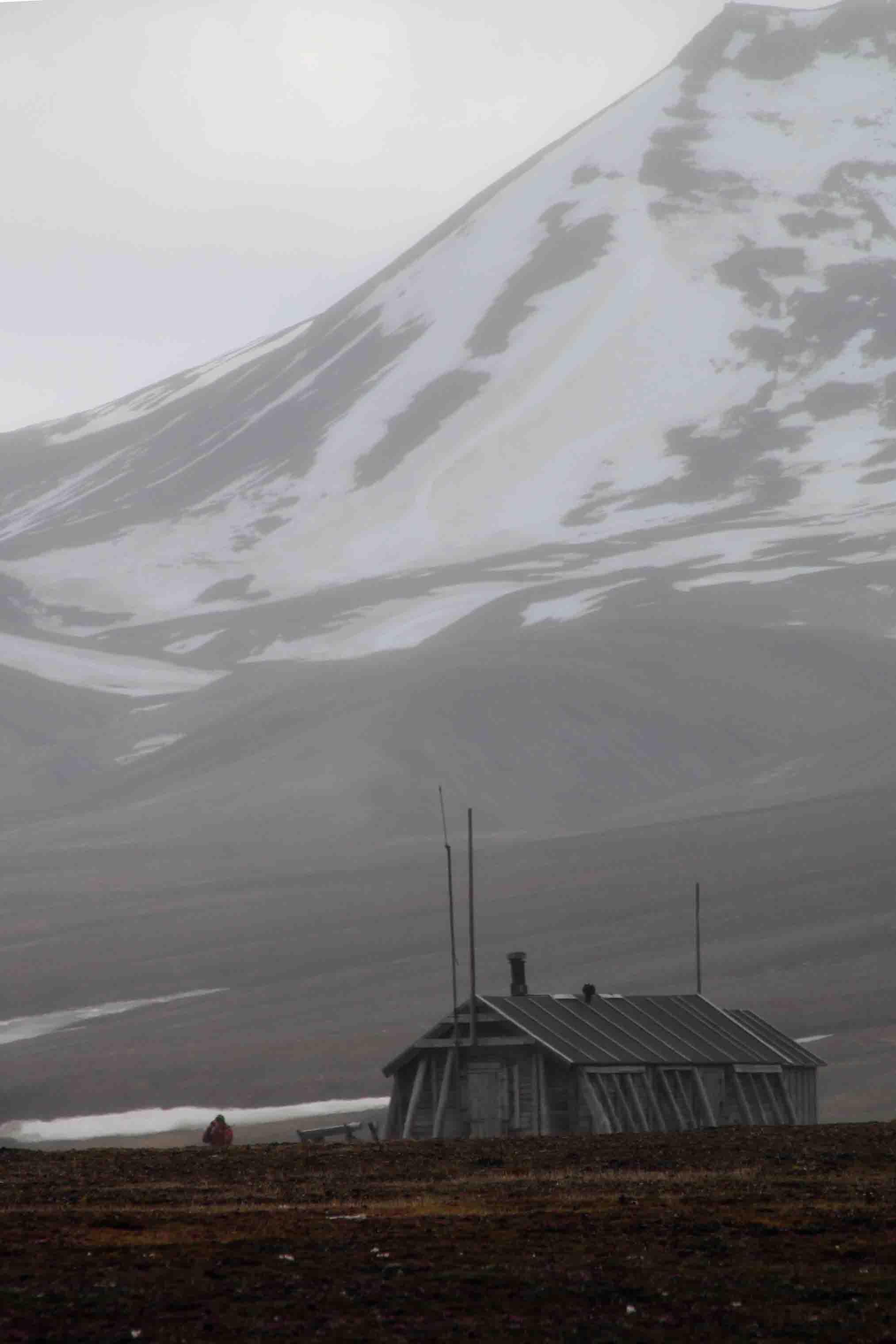 old structure in southwest spitsbergen