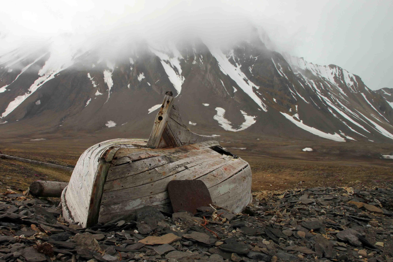 boat in southwest spitsbergen