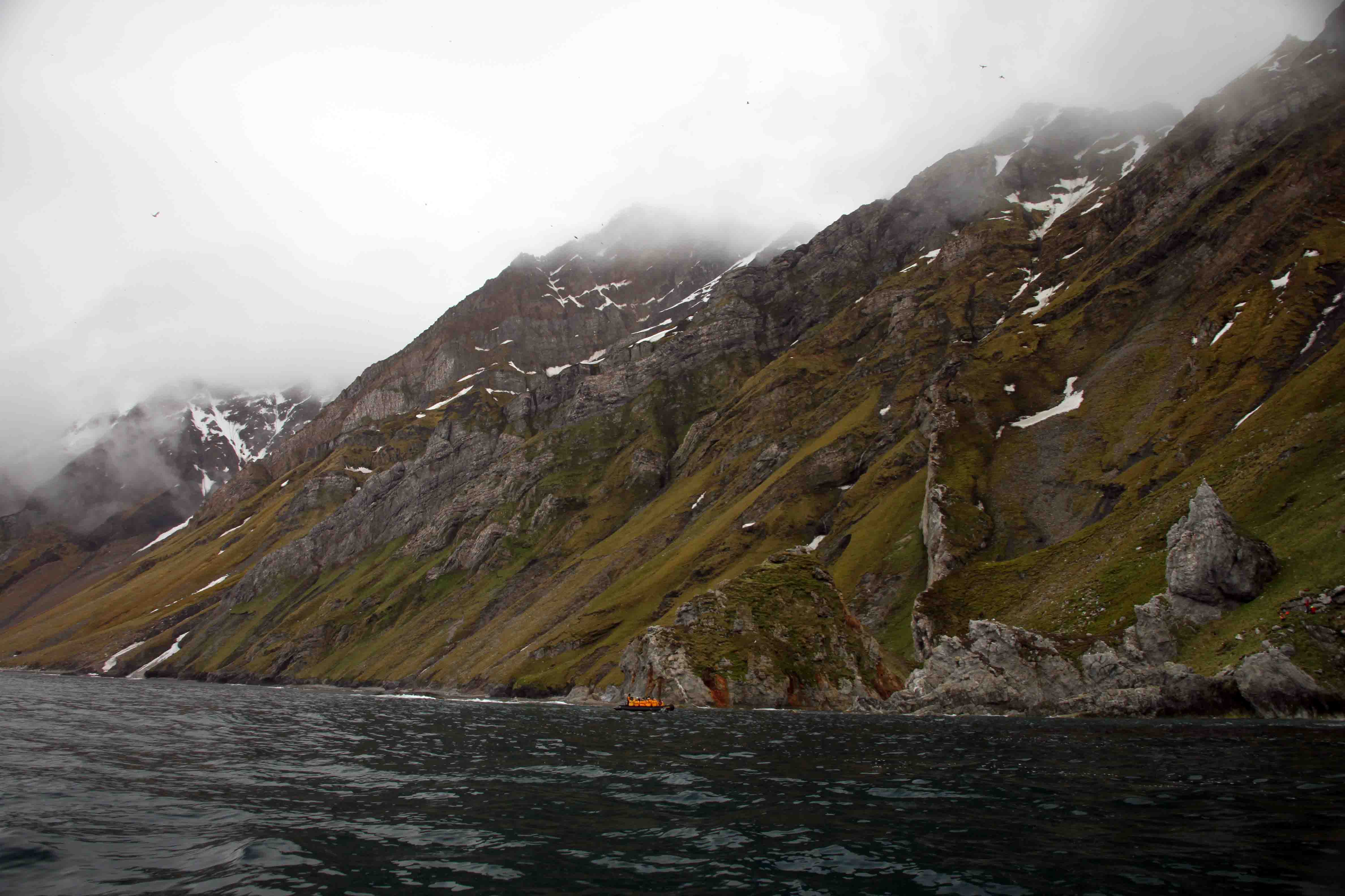 zodiac cruise in the arctic