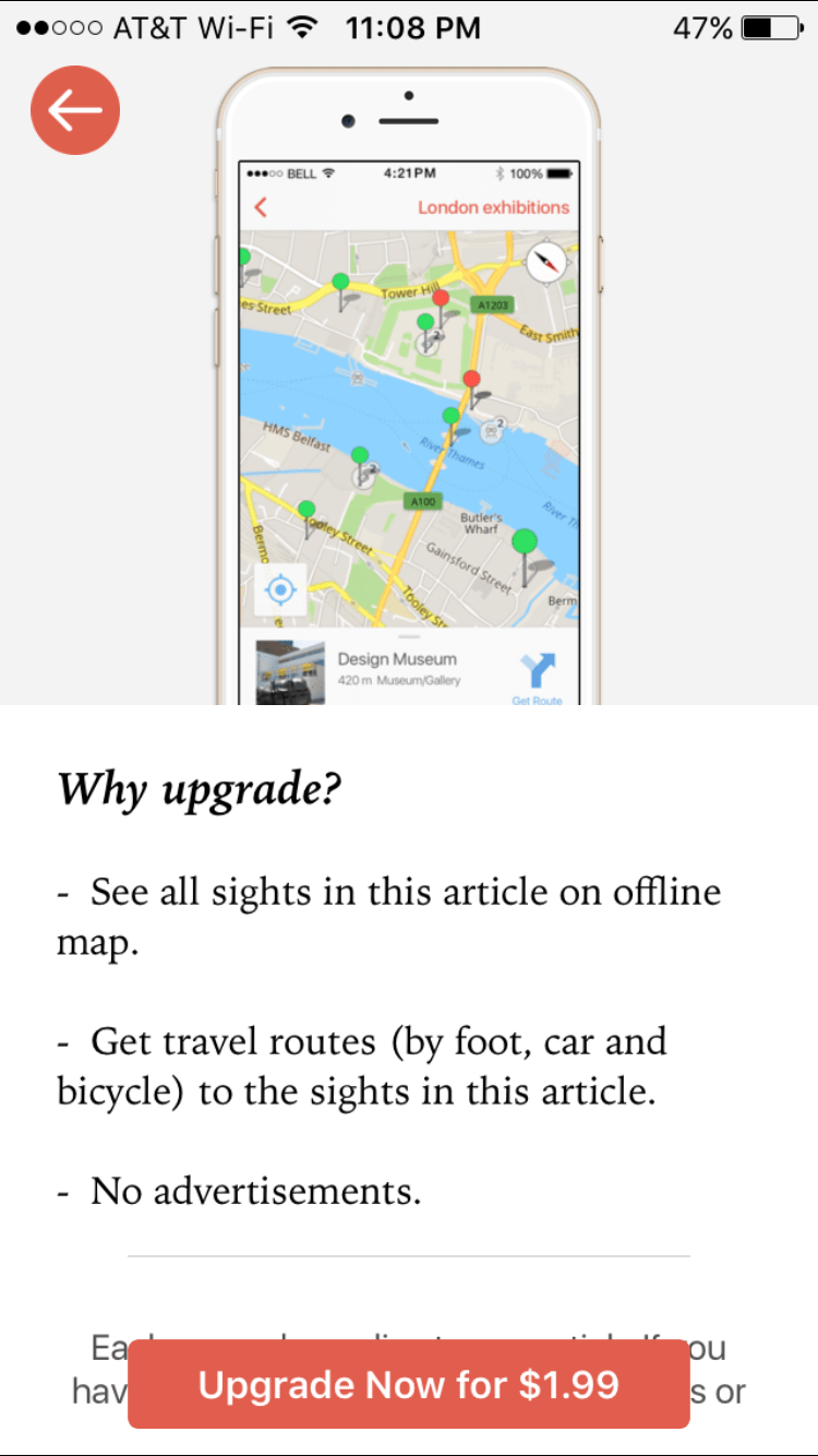 Offline GPS Guided Travel Map
