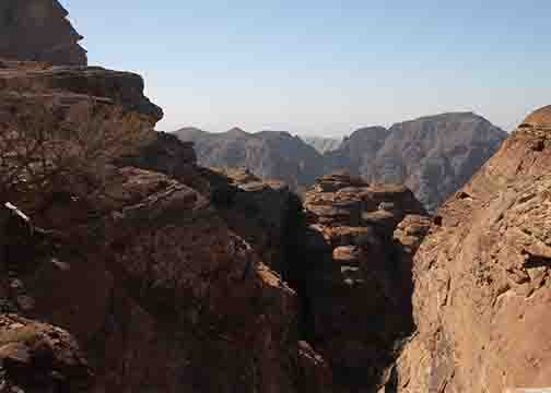 view on the trail to petra