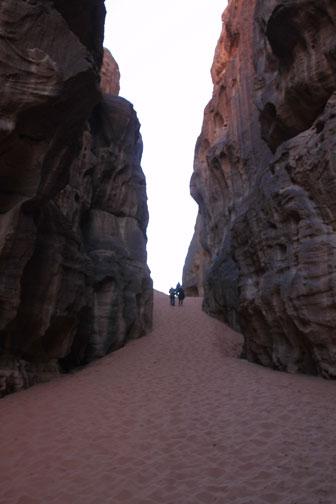 canyon in the wadi rum desert