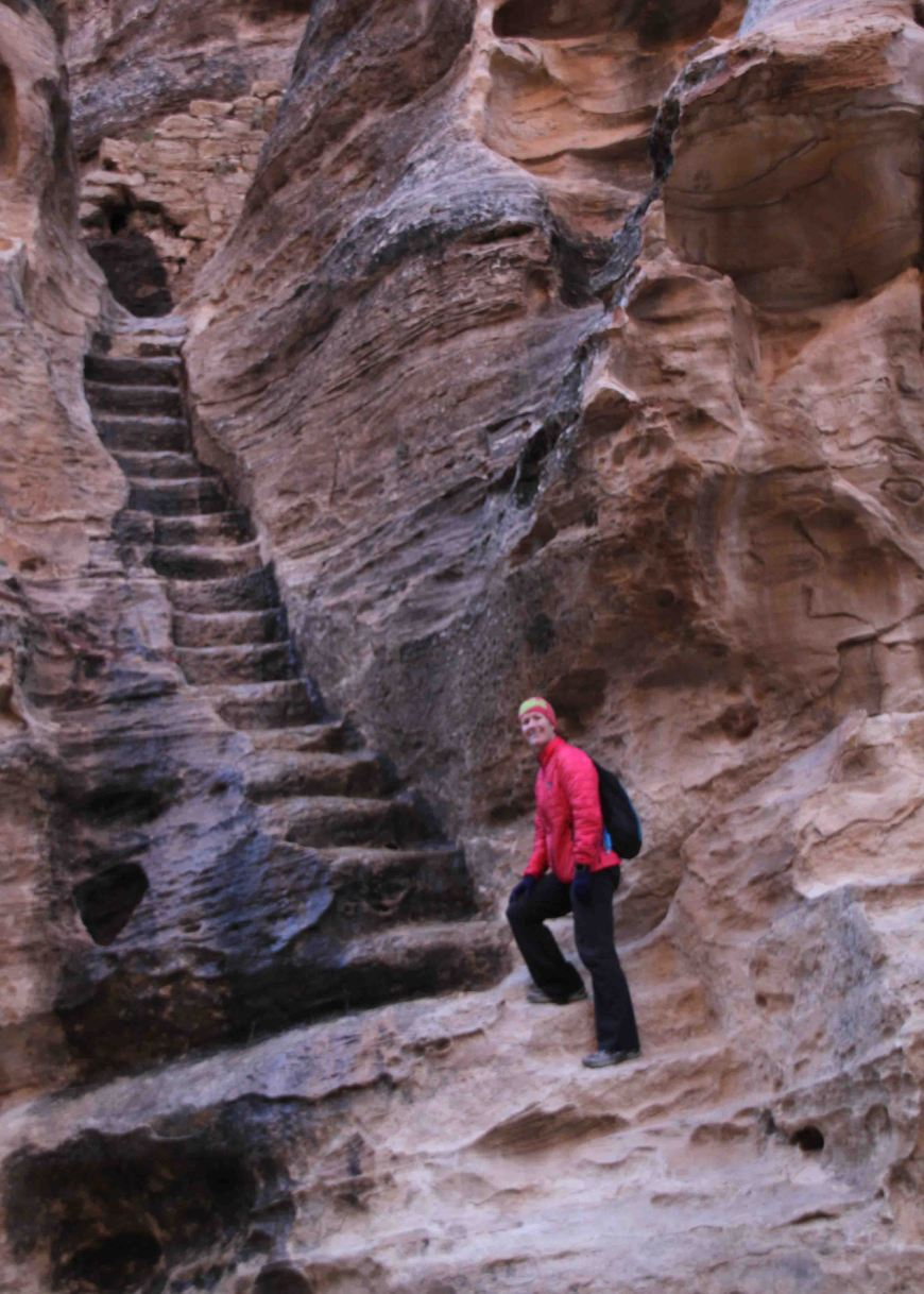 stairs everywhere in little petra