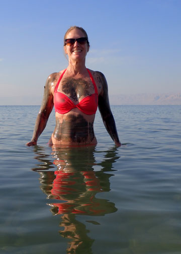 me covered in mud from the dead sea