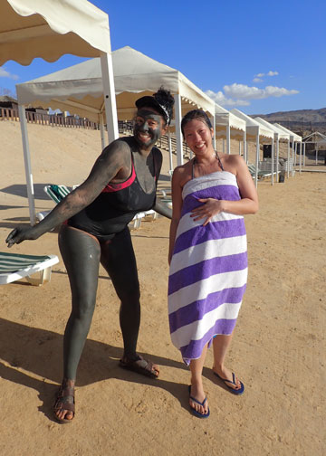 margaret and syreeta at the dead sea