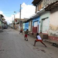 baseball in the street