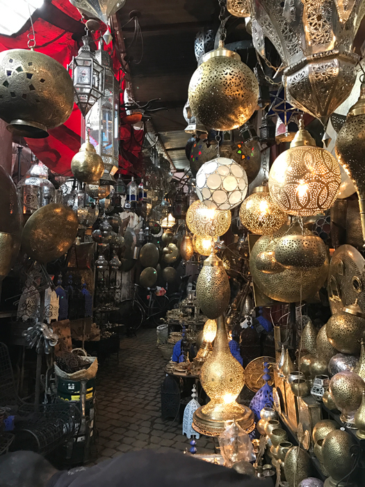 lanterns in marrakesh medina