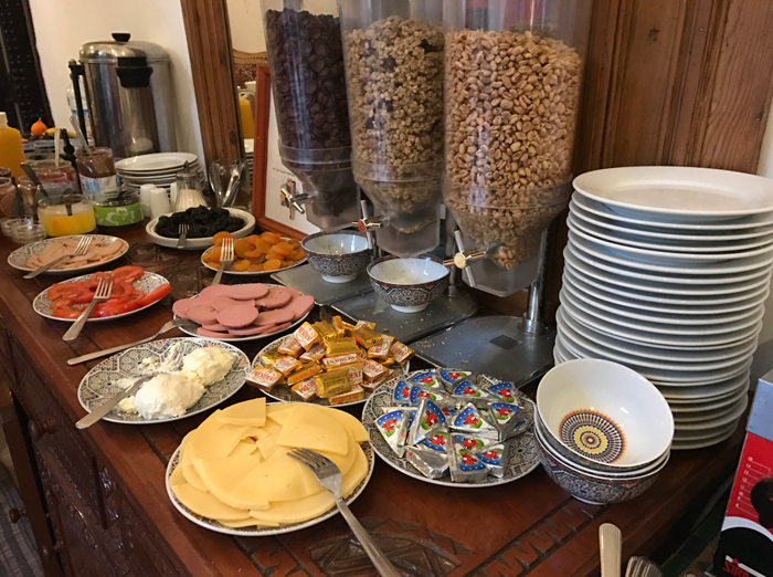 breakfast at riad karmela
