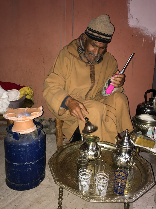 villager making us tea