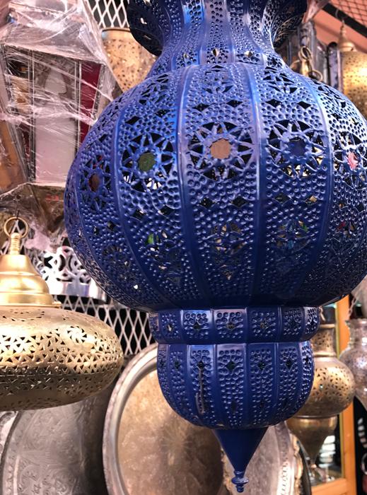 lantern in Marrakesh medina