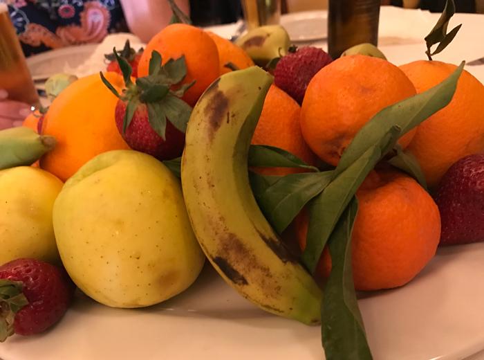 fruit dessert in casablanca