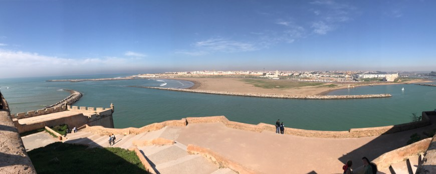 view from Kasbah des Udayas in rabat
