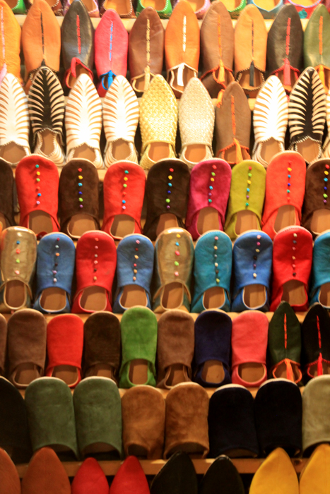 shoes in marrakesh medina