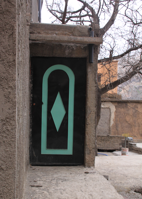 decorative door in the high atlas mountains