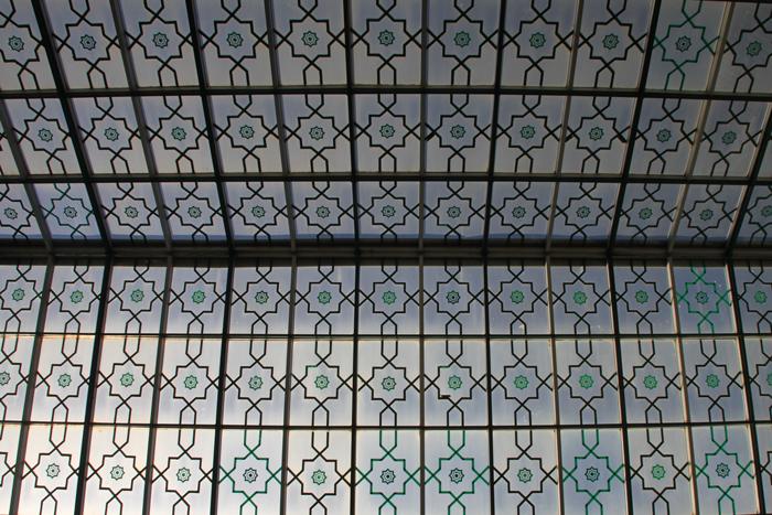 ceiling at mahkama in casablanca