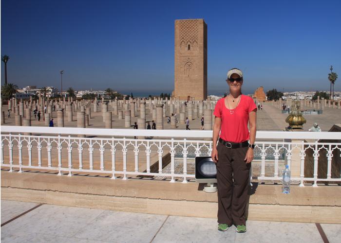 me at hassan tower in rabat