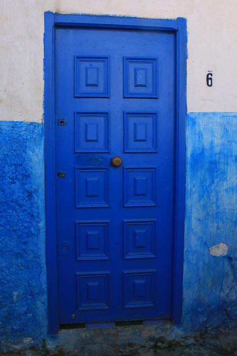blue doors of rabat