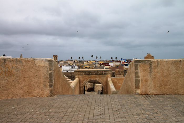 view of el jadida from Fortress of Mazagan