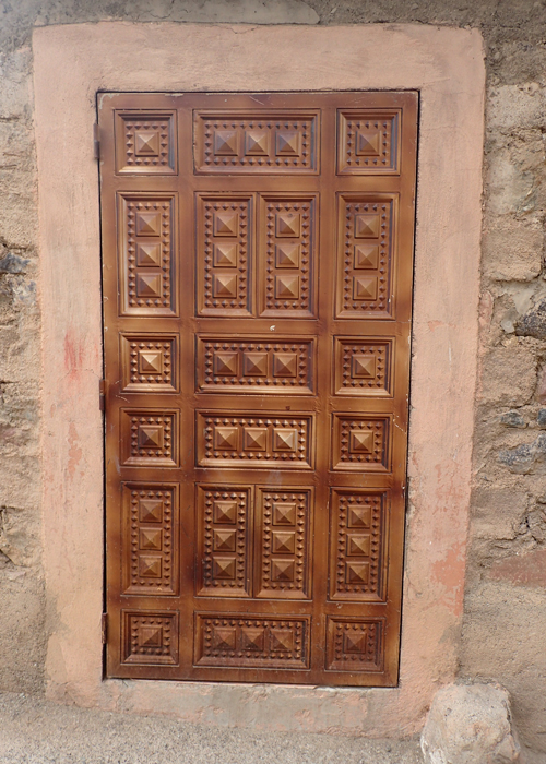 door on berber village house