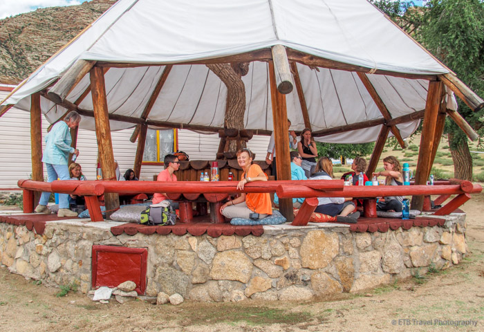 lunch at eden camp in mongolia