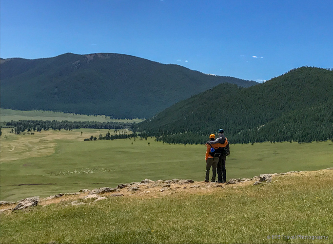 Chip and Kate on the Mongolian steppe