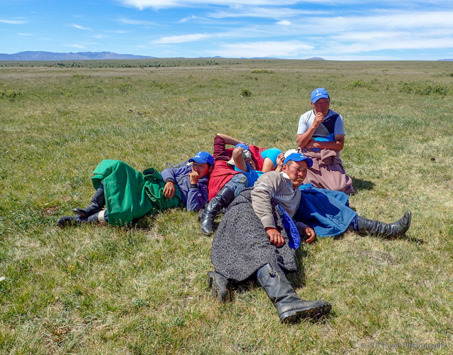 """tight spaces in gers and cold winters encourage """"cuddling"""" among Mongolians"""