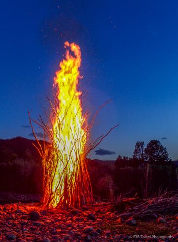 bonfire in mongolia