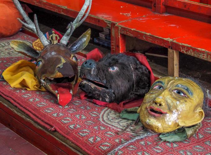 tsam masks in lavrin sum mongolia