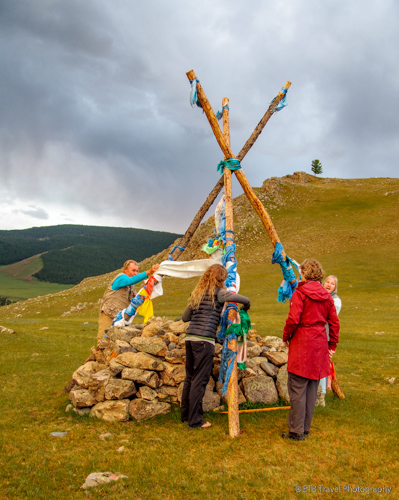 ovoo in mongolia