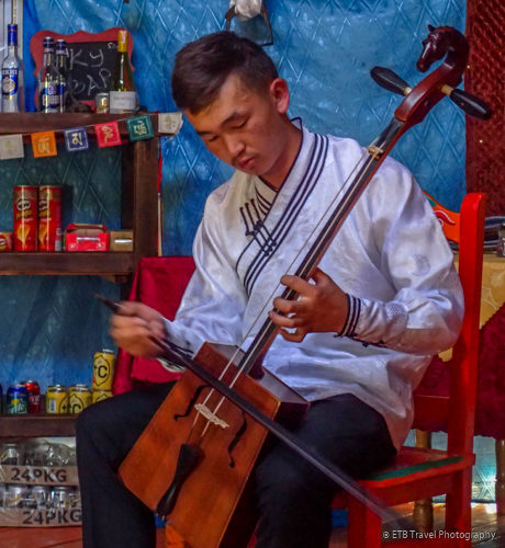 Mongolian horse-head fiddle player