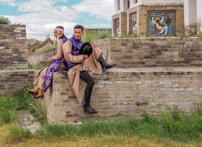 photo shoot at Erdene Zuu Khiid