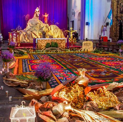 easter carpet in san francisco church
