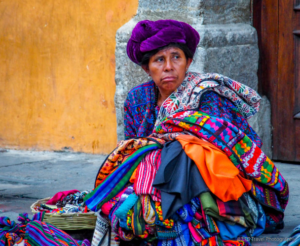 Guatemalan woman selling her wares