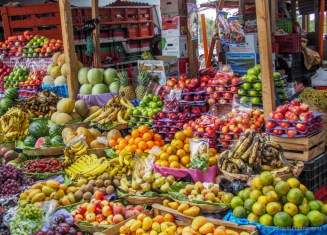 fruit market in Antigua