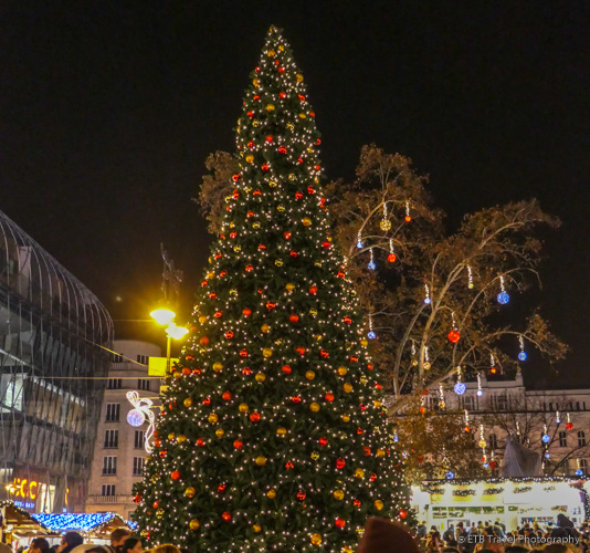 Vörösmarty Square in Budapest during Christmas Markets